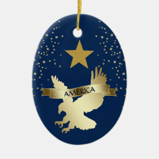 American Gold Star Eagle Christmas Ornament
