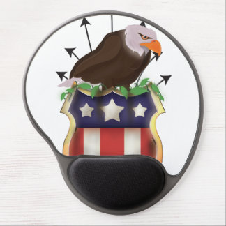 American Golden Eagle Stars and Stripes Flag Gel Mouse Pad