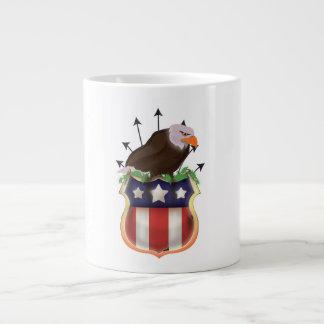 American Golden Eagle Stars and Stripes Flag Jumbo Mug