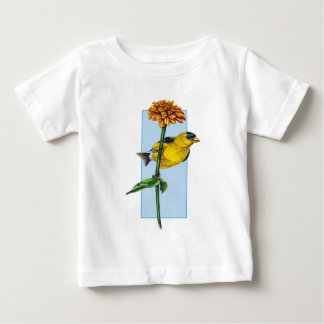 American Goldfinch and Zinnia flower Tee Shirts