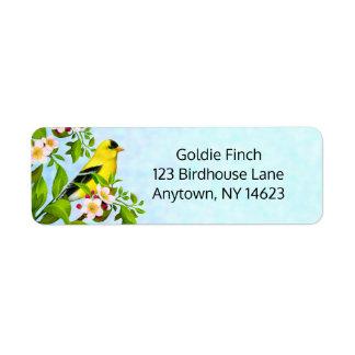 American Goldfinch Bird Address Labels