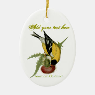 American Goldfinch Christmas Ornament
