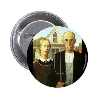 American Gothic 6 Cm Round Badge