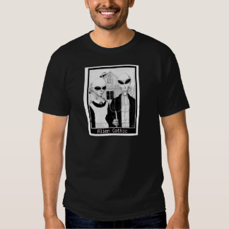American Gothic, Alien Portraits, Aliens Tee Shirts