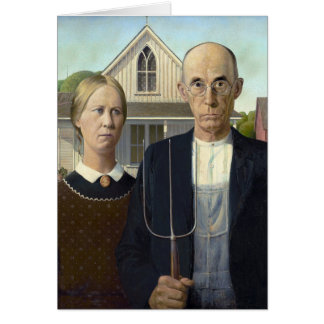 American Gothic by Grant DeVolson Wood Card