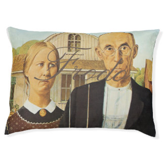 American Gothic by Grant Wood,reproduction art,vin
