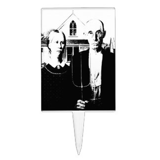 American Gothic Cake Toppers