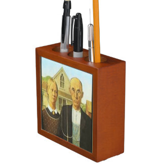 American Gothic Desk Organizer Pencil/Pen Holder
