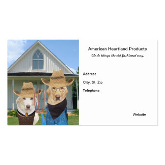 American Gothic Dogs/Labs Funny Business Card