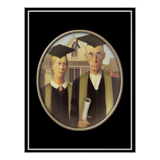 American Gothic Graduate Cameo Poster
