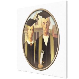 American Gothic Graduation Cameo Canvas Print