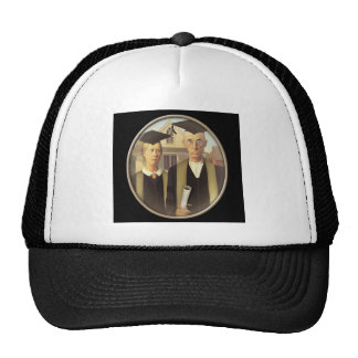 American Gothic Graduation Cameo on Black Trucker Hats