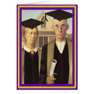 American Gothic Graduation Card
