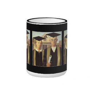 American Gothic Graduation Ringer Mug