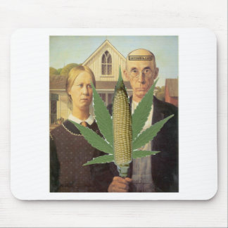 american gothic-grant-wood cornnabis tomacco mouse pads