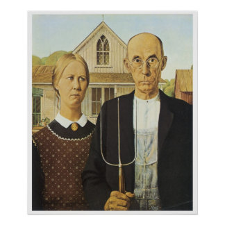 American Gothic, Grant Wood Poster