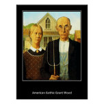 American Gothic Grant Wood Vintage Poster
