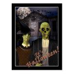 American Gothic Halloween Postcard