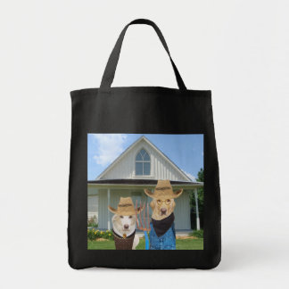 American Gothic Lab Tote Grocery Tote Bag