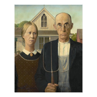 American Gothic Painting 21.5 Cm X 28 Cm Flyer