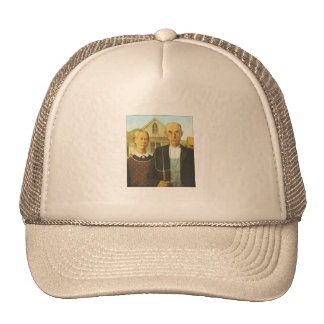 American Gothic Painting Ball Cap