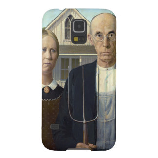 American Gothic Painting by Grant Wood Cases For Galaxy S5