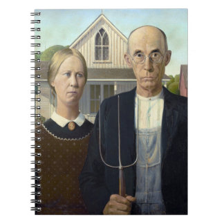 American Gothic Painting by Grant Wood Notebooks