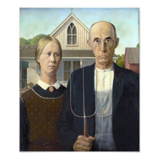 American Gothic Painting by Grant Wood Photo Art