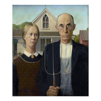 American Gothic Painting by Grant Wood Poster