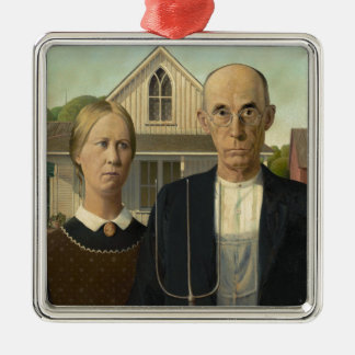 American Gothic Painting Ornament