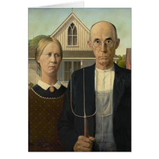 American Gothic Painting Greeting Card