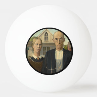American Gothic Painting Ping-Pong Ball