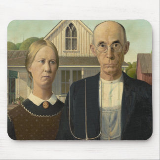American Gothic Painting Mouse Mat