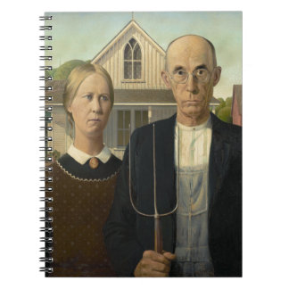 American Gothic Painting Spiral Notebooks