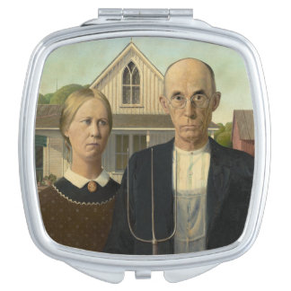 American Gothic Painting Makeup Mirror