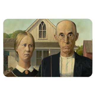 American Gothic Painting Magnet