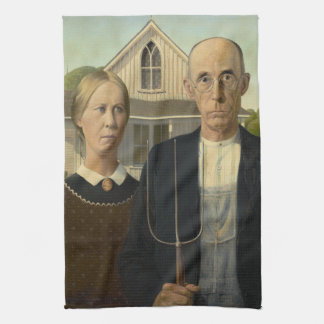 American Gothic Painting Hand Towel