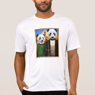 American Gothic Panda with bamboo frame Tshirt