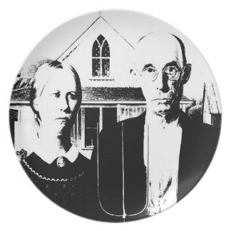 American Gothic Dinner Plates