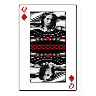American Gothic Queen of diamonds Postcards