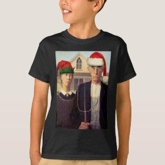 American Gothic Santas T-Shirt
