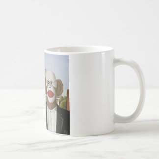American Gothic Sock Monkeys Coffee Mug