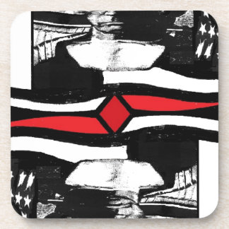 American Gothic-The King Of Diamonds Drink Coaster