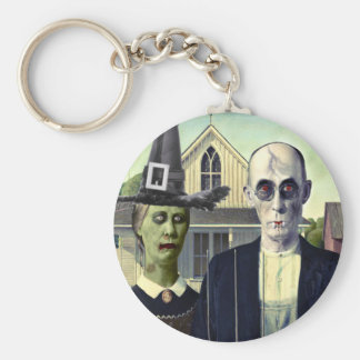 American Gothic Vampire and Witch Keychain