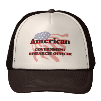 American Government Research Officer Cap