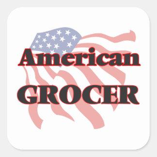 American Grocer Square Sticker