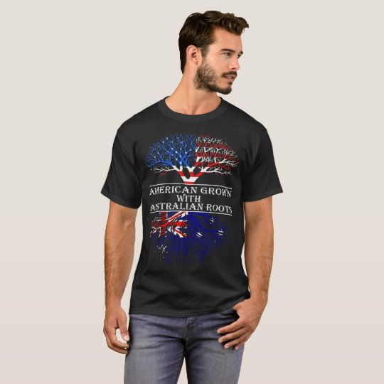 American Grown With Australian Roots T-Shirt