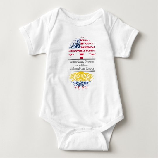 American Grown With Colombian Roots Great Gift Baby Bodysuit