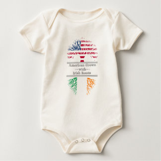 American Grown With Irish Roots Great Gift Baby Bodysuit