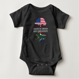American Grown with South African Roots   South Baby Bodysuit